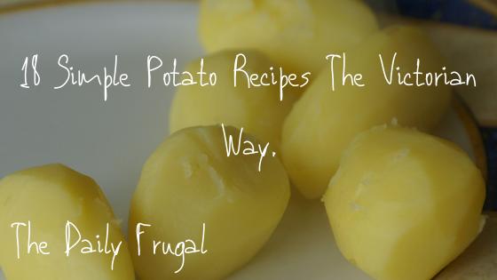 Frugal Potato recipes